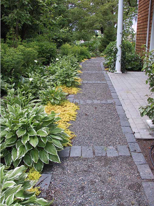 Laycock gardens llc for Gravel path edging ideas